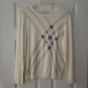 Alfred Dunner Floral Beaded Sweater, NWOT